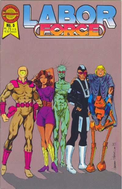 Labor Force #5 comic books - cover scans photos Labor Force #5 comic books - covers, picture gallery