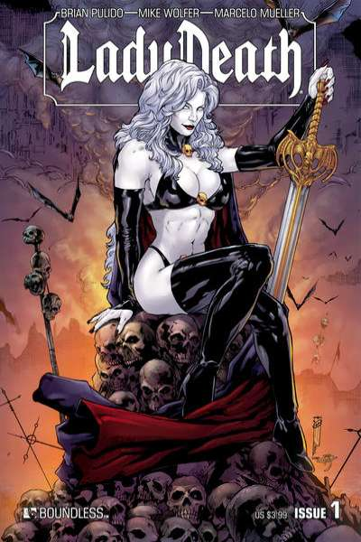 Lady Death #1 Comic Books - Covers, Scans, Photos  in Lady Death Comic Books - Covers, Scans, Gallery