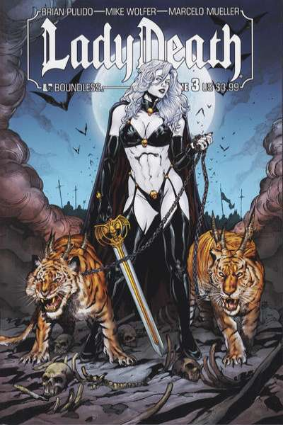 Lady Death #3 Comic Books - Covers, Scans, Photos  in Lady Death Comic Books - Covers, Scans, Gallery