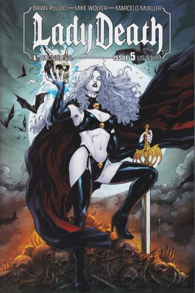Lady Death #5 comic books - cover scans photos Lady Death #5 comic books - covers, picture gallery