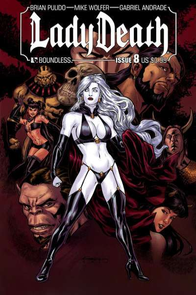 Lady Death #8 Comic Books - Covers, Scans, Photos  in Lady Death Comic Books - Covers, Scans, Gallery