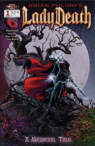 Lady Death: A Medieval Tale #1 comic books - cover scans photos Lady Death: A Medieval Tale #1 comic books - covers, picture gallery