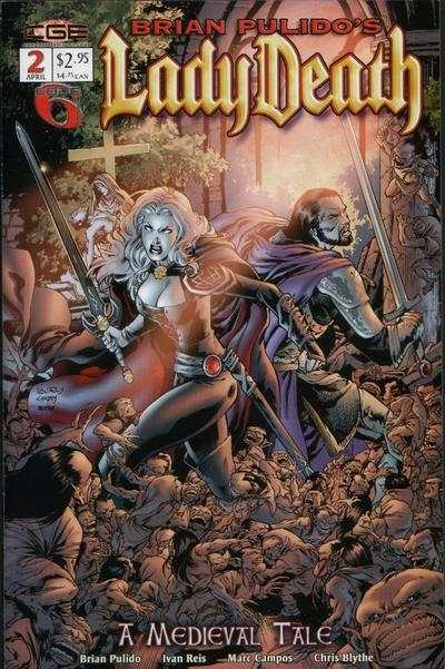 Lady Death: A Medieval Tale #2 comic books - cover scans photos Lady Death: A Medieval Tale #2 comic books - covers, picture gallery