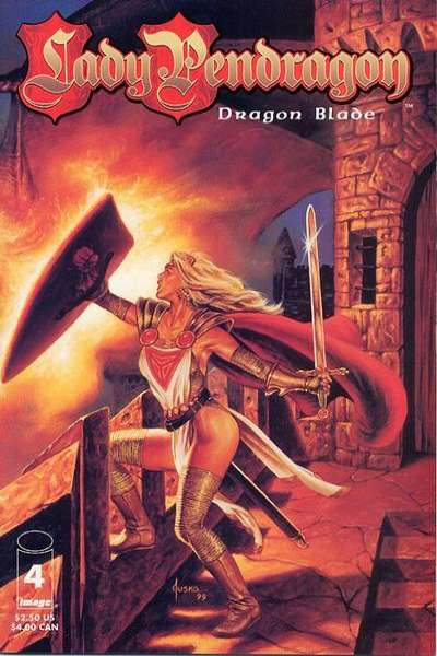 Lady Pendragon: Dragon Blade #4 comic books for sale