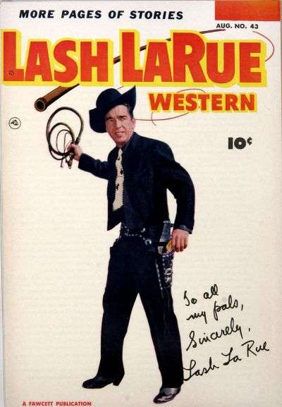 Lash Larue Western #43 comic books - cover scans photos Lash Larue Western #43 comic books - covers, picture gallery