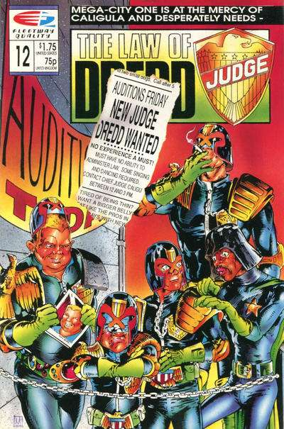 Law of Dredd #12 Comic Books - Covers, Scans, Photos  in Law of Dredd Comic Books - Covers, Scans, Gallery