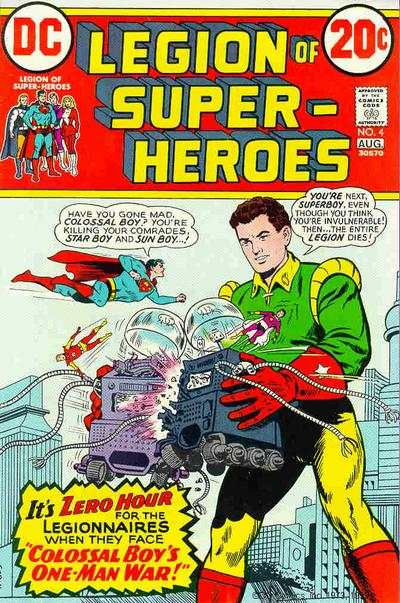 Legion of Super-Heroes #4 comic books - cover scans photos Legion of Super-Heroes #4 comic books - covers, picture gallery
