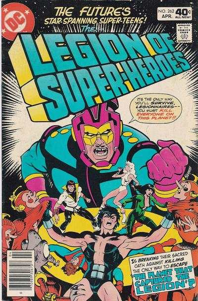 Legion of Super-Heroes #262 comic books - cover scans photos Legion of Super-Heroes #262 comic books - covers, picture gallery