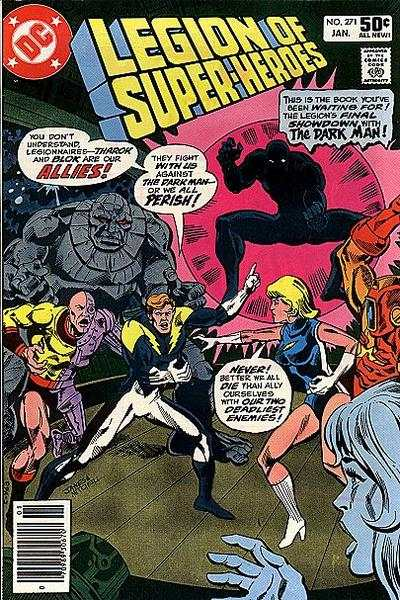 Legion of Super-Heroes #271 comic books - cover scans photos Legion of Super-Heroes #271 comic books - covers, picture gallery