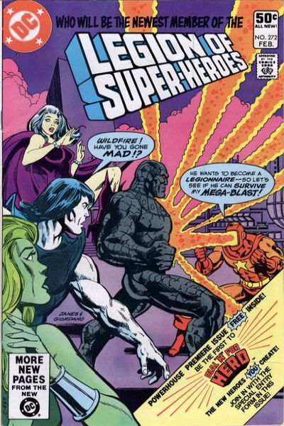 Legion of Super-Heroes #272 comic books - cover scans photos Legion of Super-Heroes #272 comic books - covers, picture gallery