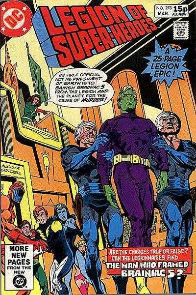 Legion of Super-Heroes #273 comic books - cover scans photos Legion of Super-Heroes #273 comic books - covers, picture gallery