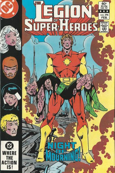 Legion of Super-Heroes #296 Comic Books - Covers, Scans, Photos  in Legion of Super-Heroes Comic Books - Covers, Scans, Gallery