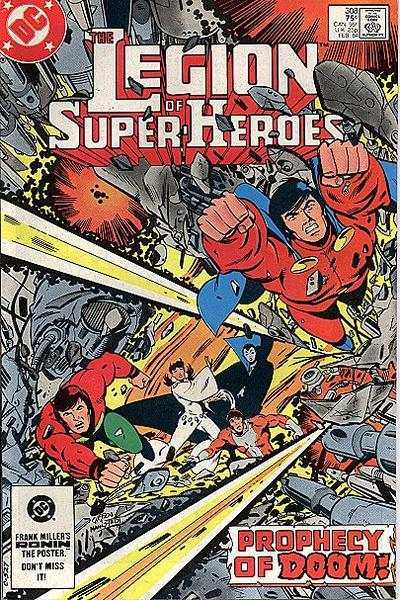 Legion of Super-Heroes #308 comic books - cover scans photos Legion of Super-Heroes #308 comic books - covers, picture gallery