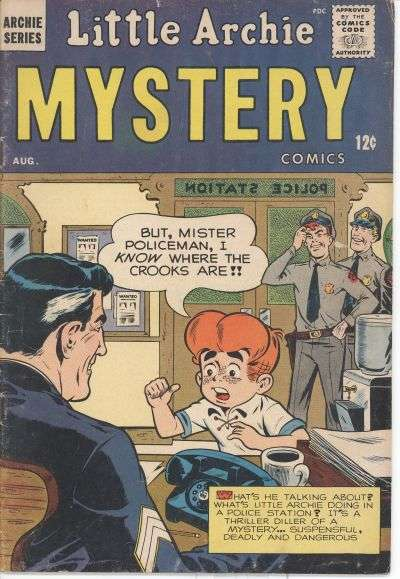 Little Archie Mystery Comic Books. Little Archie Mystery Comics.