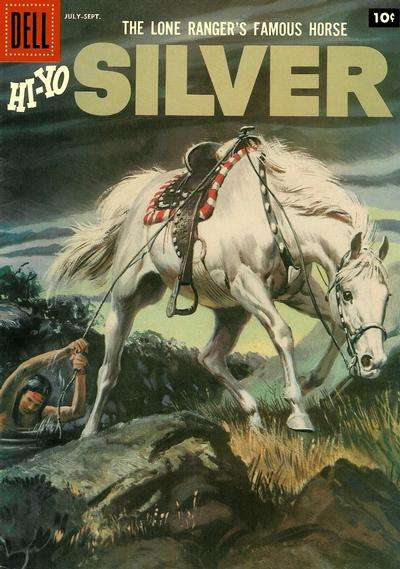 Lone Ranger's Famous Horse Hi-Yo Silver #23 comic books - cover scans photos Lone Ranger's Famous Horse Hi-Yo Silver #23 comic books - covers, picture gallery