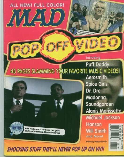 Mad Pop-Off Video #1 Comic Books - Covers, Scans, Photos  in Mad Pop-Off Video Comic Books - Covers, Scans, Gallery