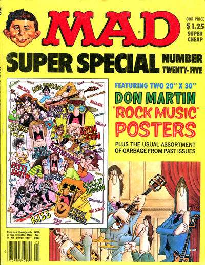 Mad Special #25 comic books - cover scans photos Mad Special #25 comic books - covers, picture gallery