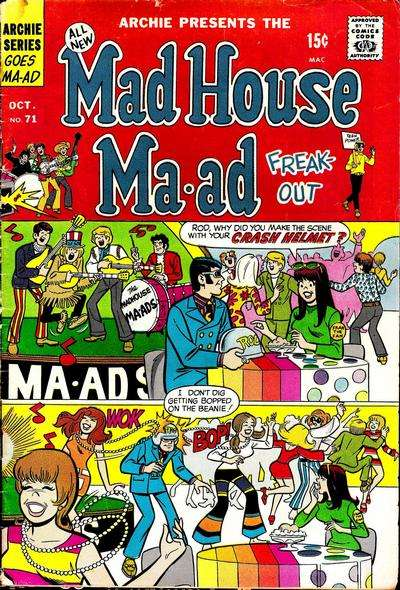 Madhouse Ma-ad #71 comic books - cover scans photos Madhouse Ma-ad #71 comic books - covers, picture gallery