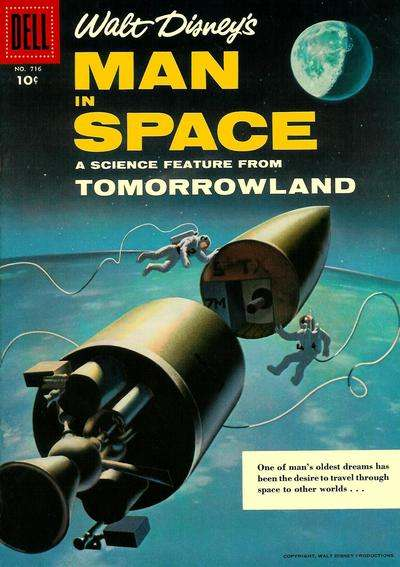 Man in Space #1 comic books - cover scans photos Man in Space #1 comic books - covers, picture gallery