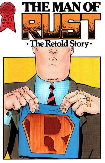 Man of Rust #1 comic books - cover scans photos Man of Rust #1 comic books - covers, picture gallery