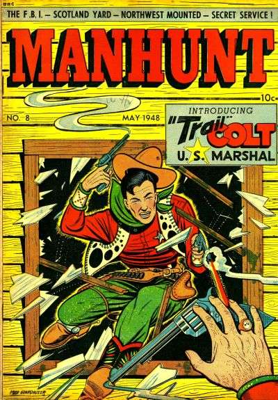 Manhunt #8 Comic Books - Covers, Scans, Photos  in Manhunt Comic Books - Covers, Scans, Gallery