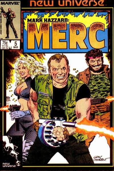Mark Hazzard: MERC #5 Comic Books - Covers, Scans, Photos  in Mark Hazzard: MERC Comic Books - Covers, Scans, Gallery