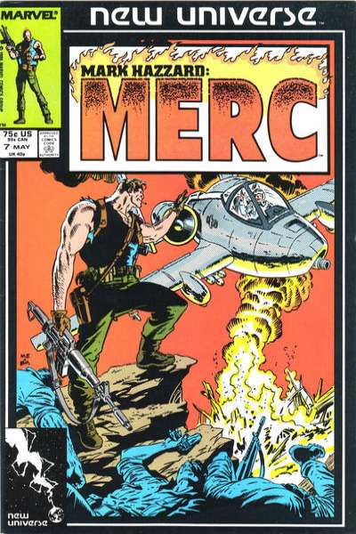 Mark Hazzard: MERC #7 Comic Books - Covers, Scans, Photos  in Mark Hazzard: MERC Comic Books - Covers, Scans, Gallery