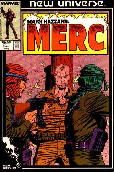 Mark Hazzard: MERC #9 comic books - cover scans photos Mark Hazzard: MERC #9 comic books - covers, picture gallery