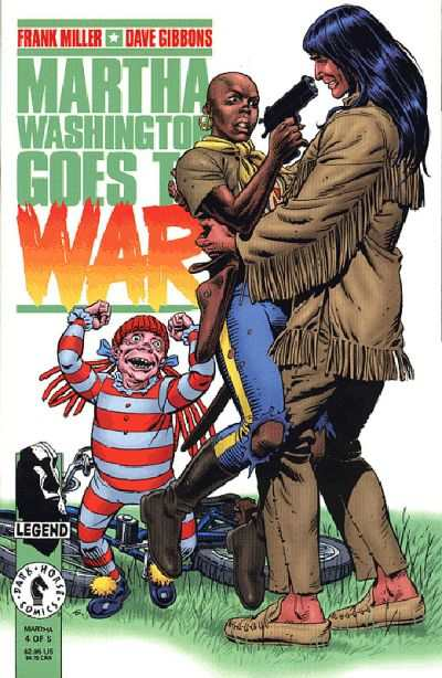 Martha Washington Goes to War #4 Comic Books - Covers, Scans, Photos  in Martha Washington Goes to War Comic Books - Covers, Scans, Gallery