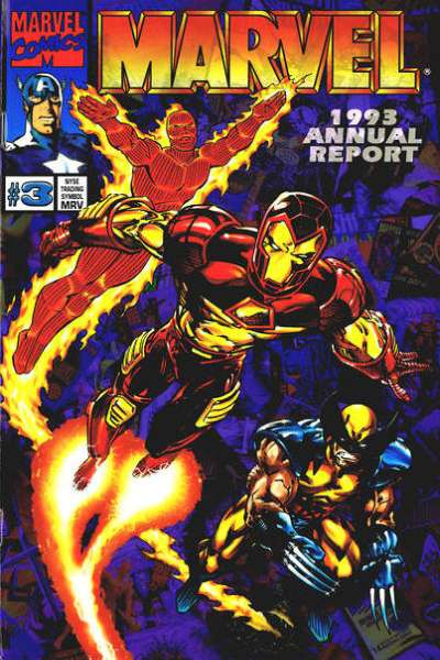 Marvel 1993 Annual Report #1 comic books for sale