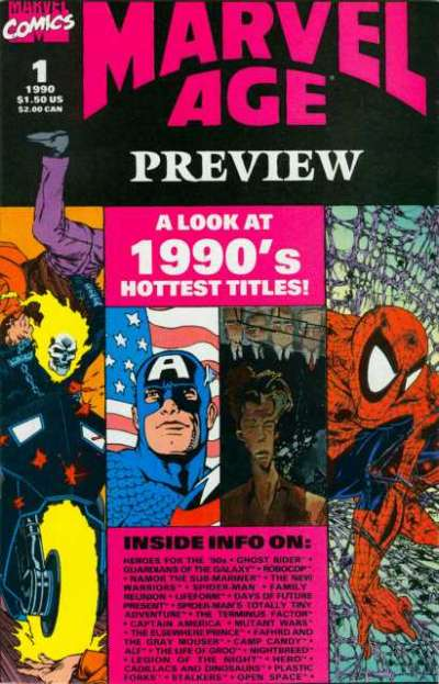 Marvel Age Preview # comic book complete sets Marvel Age Preview # comic books