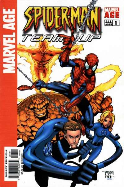 Marvel Age Spider-Man Team-Up #1 comic books - cover scans photos Marvel Age Spider-Man Team-Up #1 comic books - covers, picture gallery
