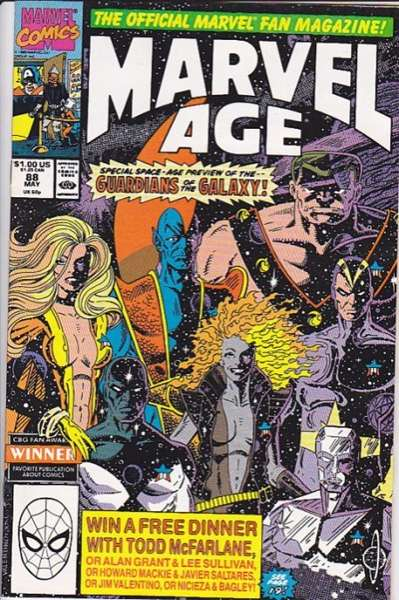 Marvel Age #88 comic books - cover scans photos Marvel Age #88 comic books - covers, picture gallery