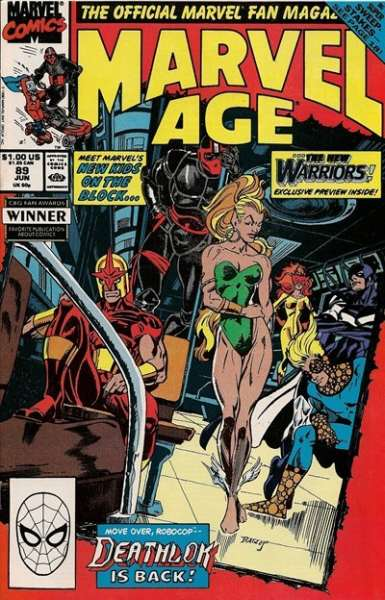 Marvel Age #89 comic books - cover scans photos Marvel Age #89 comic books - covers, picture gallery
