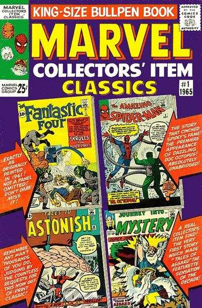 Marvel Collectors' Item Classics #1 comic books - cover scans photos Marvel Collectors' Item Classics #1 comic books - covers, picture gallery