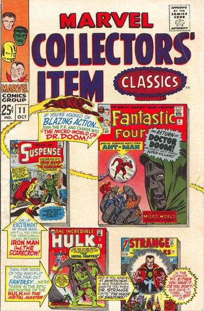 Marvel Collectors' Item Classics #11 comic books - cover scans photos Marvel Collectors' Item Classics #11 comic books - covers, picture gallery