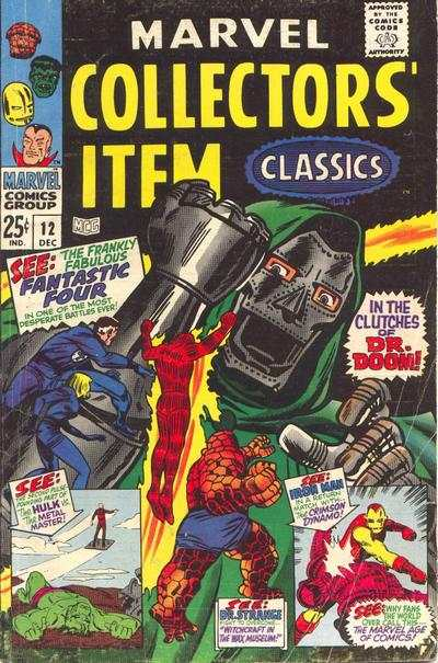 Marvel Collectors' Item Classics #12 comic books - cover scans photos Marvel Collectors' Item Classics #12 comic books - covers, picture gallery