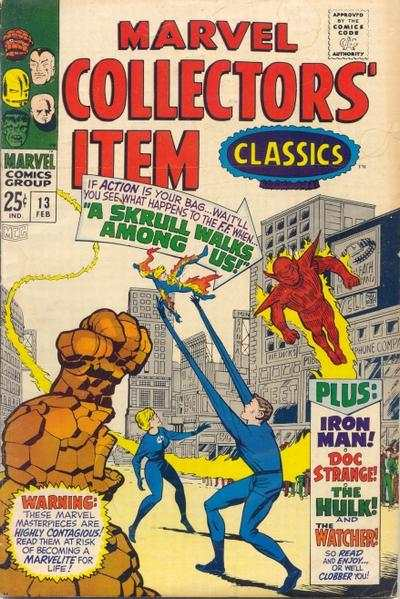 Marvel Collectors' Item Classics #13 comic books - cover scans photos Marvel Collectors' Item Classics #13 comic books - covers, picture gallery