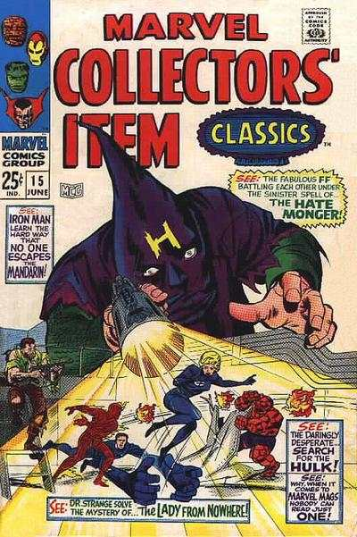 Marvel Collectors' Item Classics #15 comic books - cover scans photos Marvel Collectors' Item Classics #15 comic books - covers, picture gallery