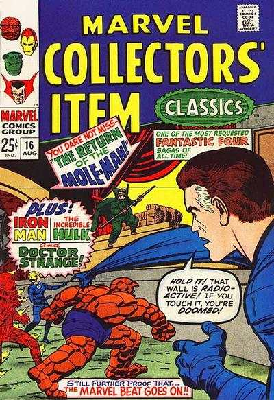 Marvel Collectors' Item Classics #16 comic books - cover scans photos Marvel Collectors' Item Classics #16 comic books - covers, picture gallery