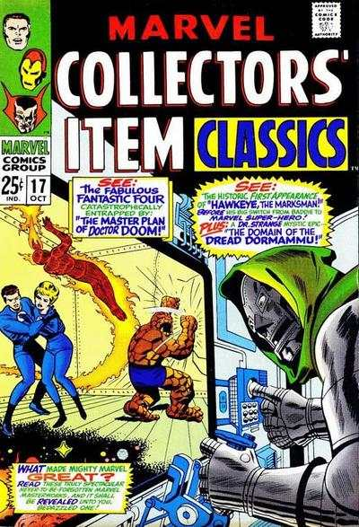 Marvel Collectors' Item Classics #17 comic books - cover scans photos Marvel Collectors' Item Classics #17 comic books - covers, picture gallery