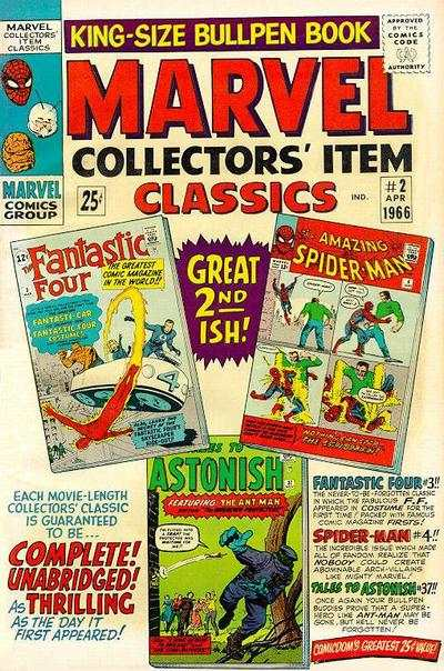 Marvel Collectors' Item Classics #2 comic books - cover scans photos Marvel Collectors' Item Classics #2 comic books - covers, picture gallery