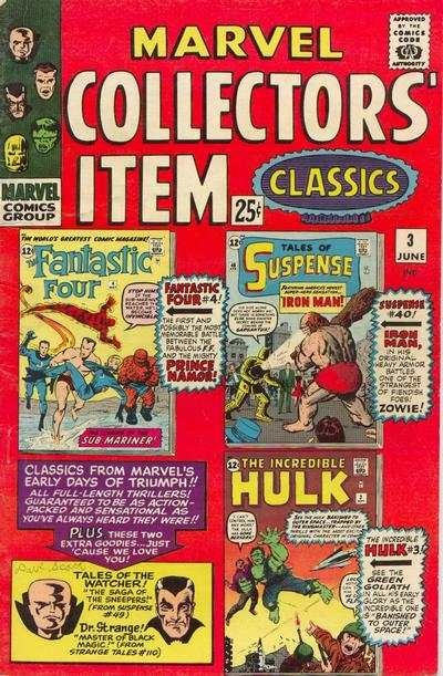 Marvel Collectors' Item Classics #3 comic books - cover scans photos Marvel Collectors' Item Classics #3 comic books - covers, picture gallery