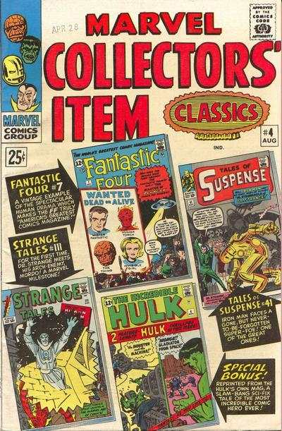 Marvel Collectors' Item Classics #4 comic books - cover scans photos Marvel Collectors' Item Classics #4 comic books - covers, picture gallery
