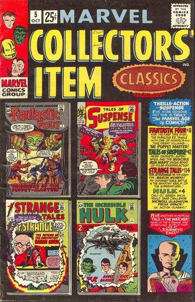 Marvel Collectors' Item Classics #5 comic books - cover scans photos Marvel Collectors' Item Classics #5 comic books - covers, picture gallery