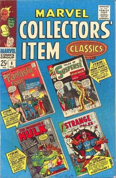 Marvel Collectors' Item Classics #6 comic books - cover scans photos Marvel Collectors' Item Classics #6 comic books - covers, picture gallery