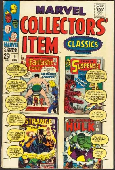 Marvel Collectors' Item Classics #9 comic books - cover scans photos Marvel Collectors' Item Classics #9 comic books - covers, picture gallery
