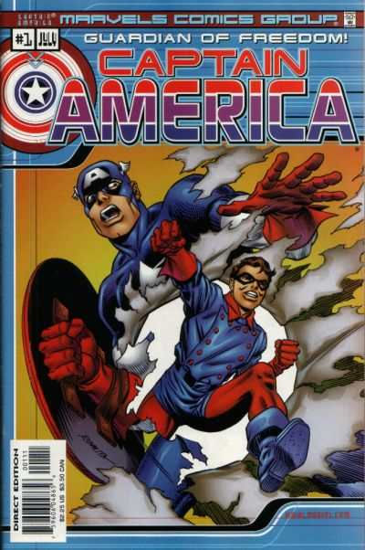 Marvel Comics: Captain America #1 comic books - cover scans photos Marvel Comics: Captain America #1 comic books - covers, picture gallery