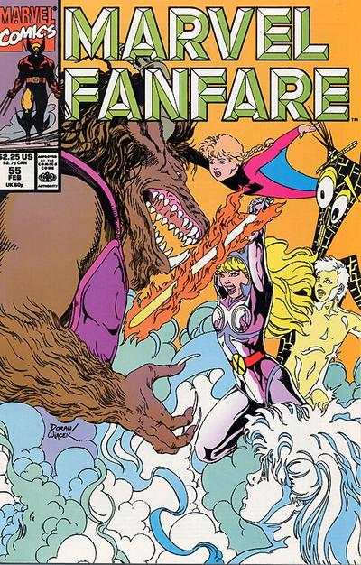 Marvel Fanfare #55 comic books for sale