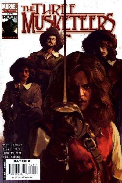 Marvel Illustrated: The Three Musketeers comic books